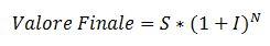 Calcolo valore finale interesse dopo N anni